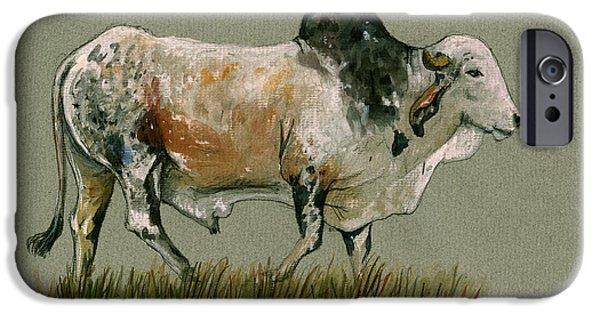Zebu Cattle Art Painting IPhone 6s Case