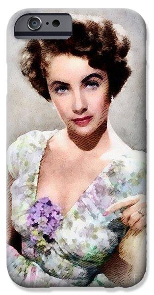 Elizabeth Taylor, Vintage Hollywood Legend IPhone 6s Case by John Springfield