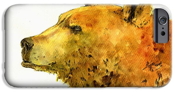 Grizzly Bear Watercolor Painting IPhone 6s Case