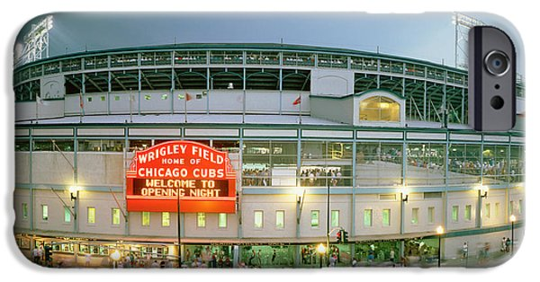 Wrigley Field iPhone 6s Case - High Angle View Of Tourists by Panoramic Images