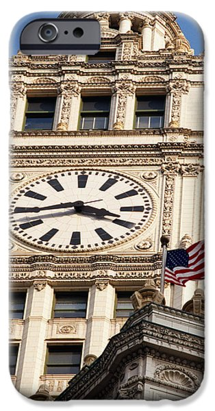 Low Angle View Of A Clock Tower IPhone Case by Panoramic Images