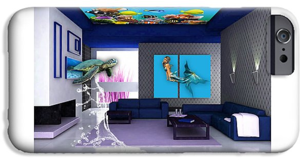 Rooftop Saltwater Fish Tank Art IPhone 6s Case