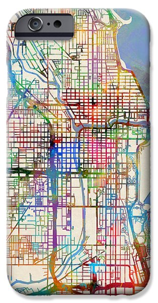Chicago City Street Map IPhone 6s Case