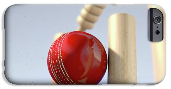 Cricket Ball Hitting Wickets IPhone 6s Case by Allan Swart