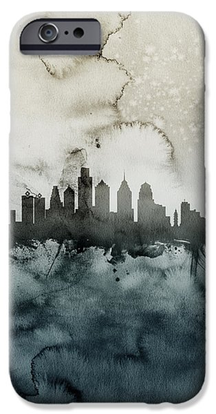 Philadelphia iPhone 6s Case - Philadelphia Pennsylvania Skyline by Michael Tompsett