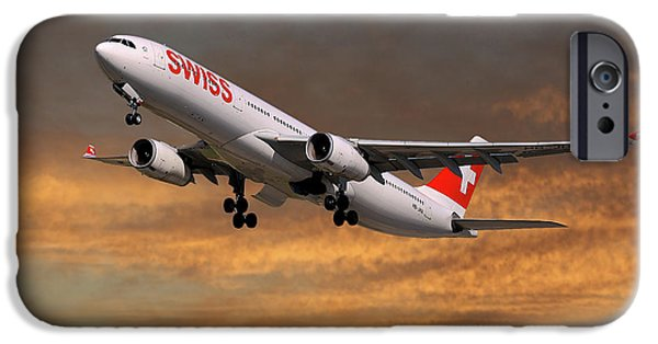 Jet iPhone 6s Case - Swiss Airbus A330-343 by Smart Aviation