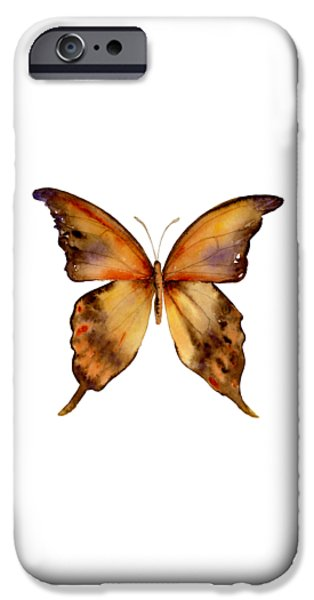Gorgon iPhone 6s Case - 7 Yellow Gorgon Butterfly by Amy Kirkpatrick