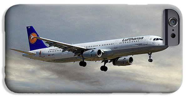 Jet iPhone 6s Case - Lufthansa Airbus A321-131 by Smart Aviation
