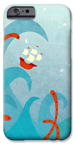 Boat iPhone 6s Case - A Bad Day For Sailors by Nic Squirrell
