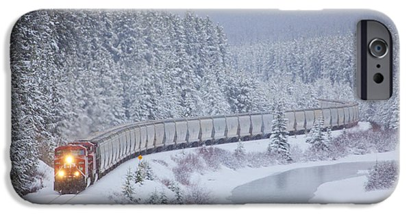 Train iPhone 6s Case - A Canadian Pacific Train Travels Along by Chris Bolin