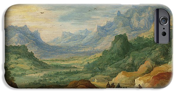 A Mountainous Landscape With Travellers And Herdsmen On A Path IPhone 6s Case by Jan Brueghel and Joos de Momper