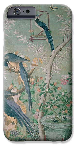 Magpies iPhone 6s Case - A Pair Of Magpie Jays  Vintage Wallpaper by John James Audubon