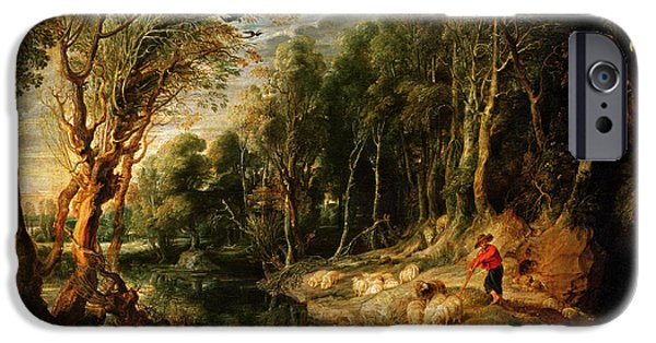 A Shepherd With His Flock In A Woody Landscape IPhone 6s Case by Rubens