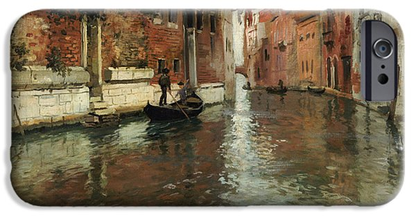 A Venetian Backwater  IPhone Case by Fritz Thaulow