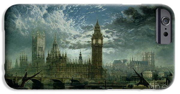 A View Of Westminster Abbey And The Houses Of Parliament IPhone 6s Case by John MacVicar Anderson