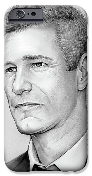 Knight iPhone 6s Case - Aaron Eckhart by Greg Joens