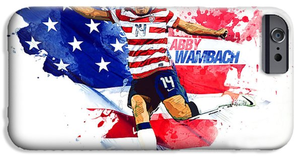 Abby Wambach IPhone 6s Case by Semih Yurdabak