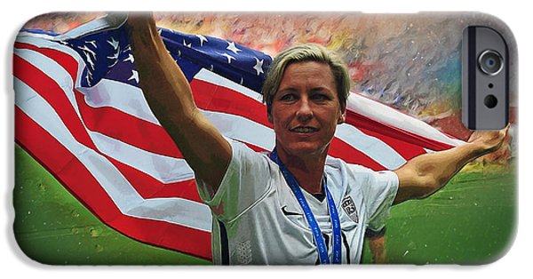 Abby Wambach Us Soccer IPhone 6s Case by Semih Yurdabak