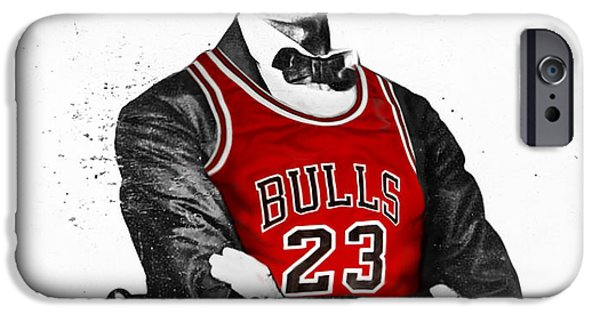 Chicago iPhone 6s Case - Abe Lincoln In A Michael Jordan Chicago Bulls Jersey by Roly Orihuela