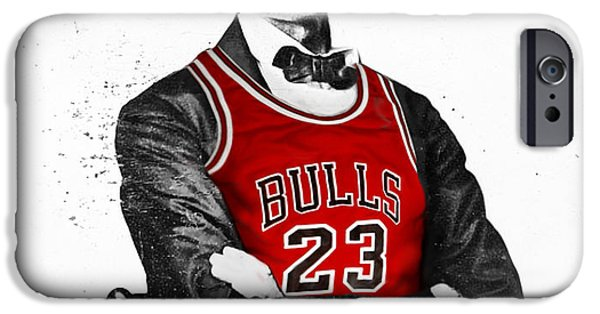 City Scenes iPhone 6s Case - Abe Lincoln In A Michael Jordan Chicago Bulls Jersey by Roly O