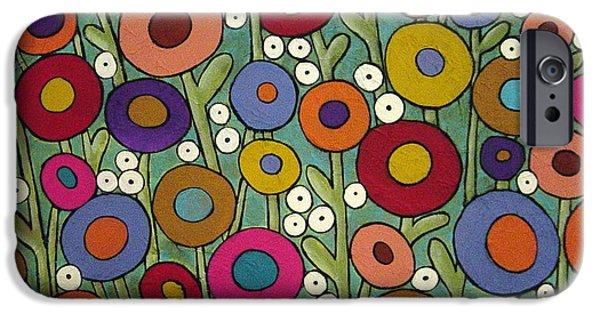Abstract Garden IPhone Case by Karla Gerard