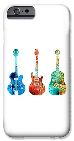 Music iPhone 6s Case - Abstract Guitars By Sharon Cummings by Sharon Cummings