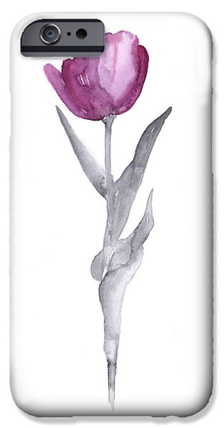 Abstract Tulip Flower Watercolor Painting IPhone 6s Case