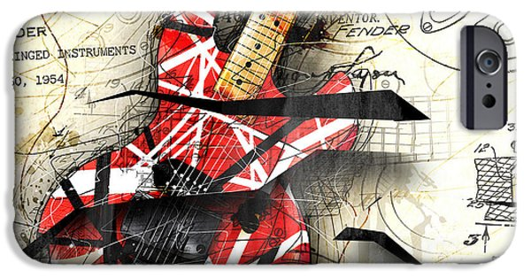 Guitar iPhone 6s Case - Abstracta 35 Eddie's Guitar by Gary Bodnar