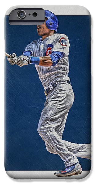 Addison Russell Chicago Cubs Art IPhone 6s Case by Joe Hamilton