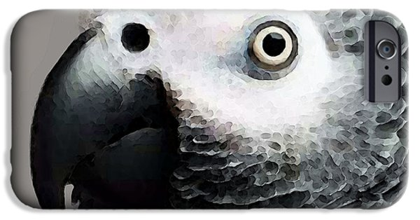 African Gray Parrot Art - Softy IPhone 6s Case by Sharon Cummings