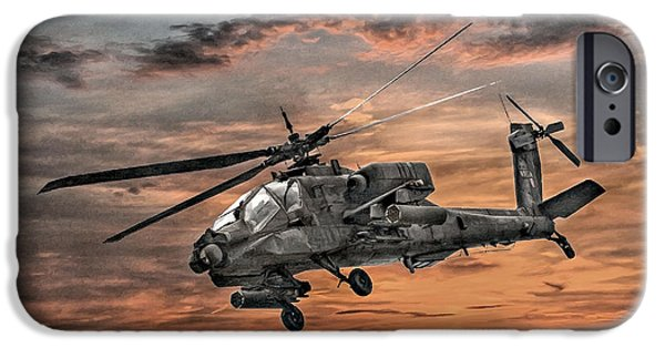 Helicopter iPhone 6s Case - Ah-64 Apache Attack Helicopter by Randy Steele