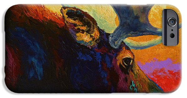 Cow iPhone 6s Case - Alaskan Spirit - Moose by Marion Rose