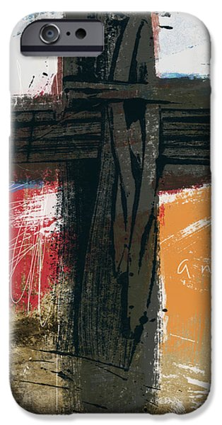 Contemporary iPhone 6s Case - Amen Contemporary Cross- Art By Linda Woods by Linda Woods