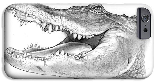 Alligator iPhone 6s Case - American Alligator by Greg Joens