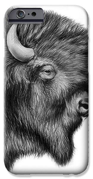 Bison iPhone 6s Case - American Bison by Greg Joens