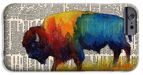 American Buffalo IIi On Vintage Dictionary IPhone 6s Case by Hailey E Herrera