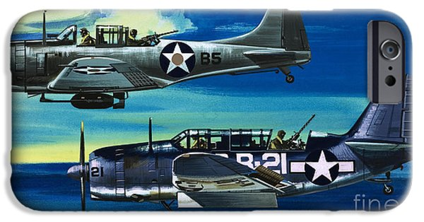 American Ww2 Planes Douglas Sbd1 Dauntless And Curtiss Sb2c1 Helldiver IPhone 6s Case