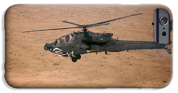 An Ah-64d Apache Longbow Fires A Hydra IPhone Case by Terry Moore