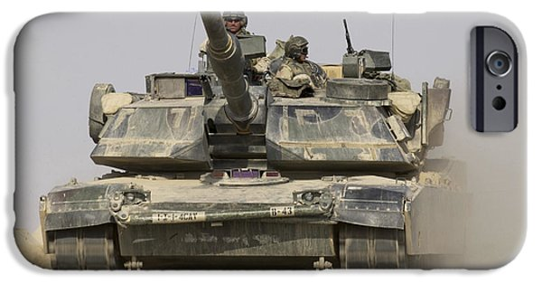 An M1a1 Abrams Tank Heading IPhone Case by Stocktrek Images