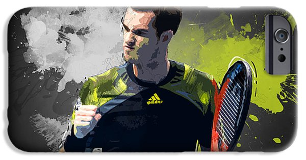 Serena Williams iPhone 6s Case - Andy Murray by Semih Yurdabak