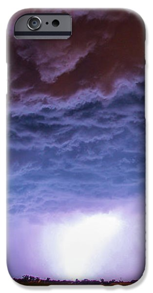 Nebraskasc iPhone 6s Case - Another Impressive Nebraska Night Thunderstorm 007 by NebraskaSC