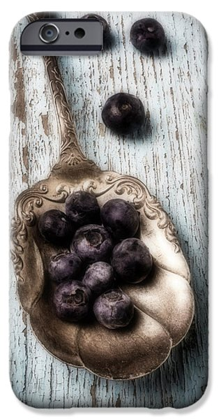 Antique Spoon And Buleberries IPhone 6s Case by Garry Gay