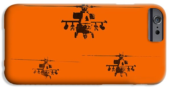 Helicopter iPhone 6s Case - Apache Dawn by Pixel  Chimp