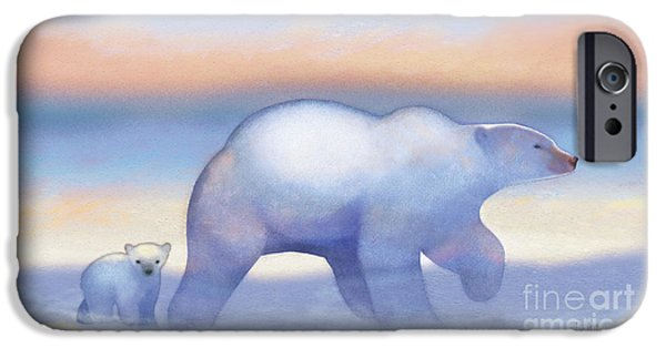Arctic Bears, Journeys Bright IPhone 6s Case by Tracy Herrmann
