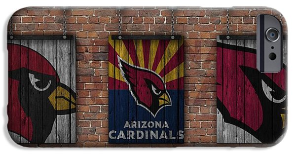 Arizona Cardinals Brick Wall IPhone 6s Case by Joe Hamilton