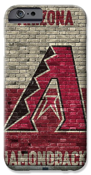 Diamondback iPhone 6s Case - Arizona Diamondbacks Brick Wall by Joe Hamilton
