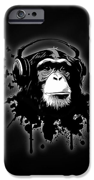 Monkey Business - Black IPhone 6s Case by Nicklas Gustafsson