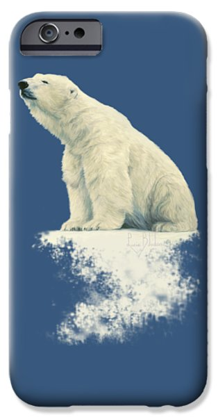Polar Bear iPhone 6s Case - Something In The Air by Lucie Bilodeau