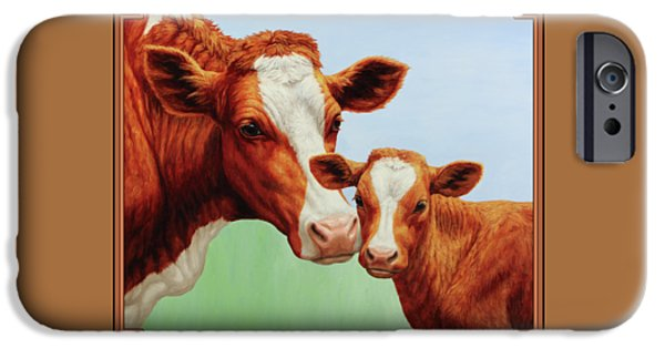 Cow iPhone 6s Case - Cream And Sugar by Crista Forest