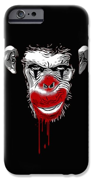 Chimpanzee iPhone 6s Case - Evil Monkey Clown by Nicklas Gustafsson